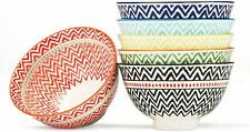 Dessert, Ice Cream Bowls Set of 6 Assorted Colors, 9- Ounce, 4.5 Inch