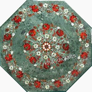 27 Inches Marble Hall Table Top Hand Made Stones Coffee Table for Office Decor