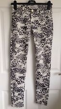 Ladies Elegant Deluxe Skinny Animal Print Jeans/Trousers - Size Small