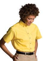 Edwards Garment Women's Left Chest Pocket Button Down Poplin Shirt. 5230