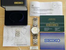 Seiko Premier Calendrier Perpétuel Kinetic Men's Watch SNP004P1 7D48-Excellent
