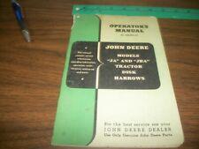 John Deere JA and JBA Tractor Disk Harrows Operators Manual