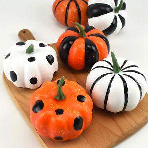 6Pcs Artificial Mini Foam Pumpkin Simulation Props Halloween Party Decor UK