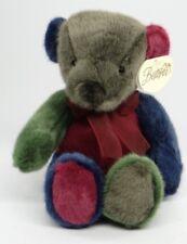 "BESTEVER ~ CHRISTMAS RAINBOW BEAR ~ 14"" Red Green Blue Teddy Plush 03241 ~ NEW"