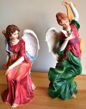 Grandeur Noel Collectible Nativity Angels Set of 2 #N0087 MIB