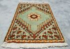 Authentic Hand Knotted Vintage Morocco Wool Area Rug 2 x 2 Ft (11956 KBN)