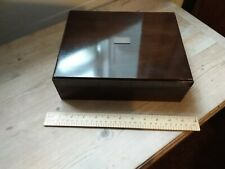Retro Humidor Cigar Box- with Cigar Case and Cutter - 3 Piece Bundle - Very Good