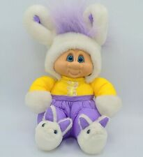 Vintage 1992 Easter Bunny Troll Doll Russ Purple Hair Gold Suit Retro Toy Clean