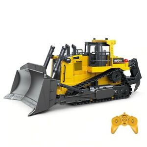 RC Truck Heavy Bulldozer Caterpillar Alloy Tractor Radio Controlled Car Toys
