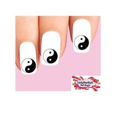 Waterslide Nail Decals Set of 20 - Yin and Yang Symbol Yin-Yang