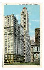 Vintage Postcard CHICAGO IL PITTSFIELD BUILDING Marshall Field estate Loop 1928