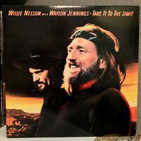 "WILLIE NELSON & WAYLON JENNINGS - Take It To The Limit- 12"" Vinyl Record LP - EX"
