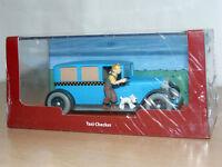 TINTIN Herge Coche TAXI CHECKER Tin Tin en America miniature car 1/43 scale