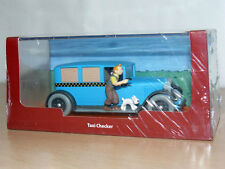 TINTIN Herge Coche TAXI CHECKER Tin Tin en America miniature car 1/43 scale