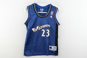 Vtg Champion Kids Small Washington Wizards Michael Jordan Basketball Jersey #23