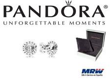 Nuevo Genuino PANDORA Aretes con el logotipo Radiante