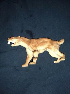 Rare Excite Smilodon Sabertooth cat Part of 6 figure Ice Age Animals bagged set