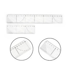 Quilting Sewing Patchwork Foot Align Ruler Grid Cutting Edge Tailor Craft New LJ