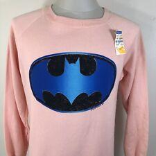 Vintage 80s 90s Batman 50/50 Sweatshirt Bat Symbol Never Worn Movie Tv Dc Comics