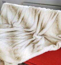 Handmade Luxury oversized Faux Fur Throw – In Wilton Ivory - Andrew Martin