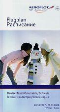 Aeroflot Germany/Austria/Switzerland Timetable  October 28, 2007 =