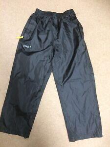 Gelert Black Waterproof Trousers Age 7-8 Years