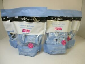 4 NEUTROGENA MAKEUP REMOVER F/F CLEANSING TOWELETTE 20 EA PACK EXP 2/22 JL 10329