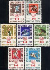 UNGHERIA 1976 GIOCHI OLIMPICI OLIMPIADI// Sport/Salto Cavallo/Scherma/spazio 7v n45145