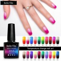 BELLE FILLE Temperature Color Changing  Nail Gel Polish Soak-off UV Manicure Gel