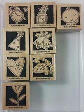 Stampin' Up! Occasionally Rubber Stamp Clock RX Wedding Baby Phone Heart