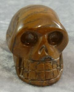 Tiger Iron Medium Carved Skull