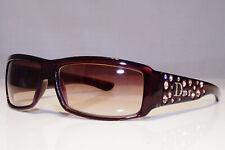 DIOR Womens Diamante Vintage Sunglasses Burgundy CRYSTAL SPARKLING 3 BRN 25470