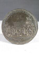 EMPREINTE EN PLOMB MEDAILLE SCEAU 1789 LA NATION A CONQUIS SON ROI PARIS
