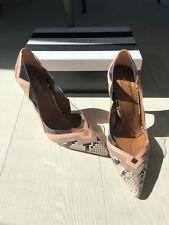 Aquazzura, snakeskin nude pink Frankie Stiletto Pumps Size 40 UK 7 Mint Conditio