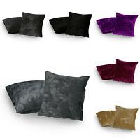 "Pack of 2 Crushed Velvet Cushion Cover 18"" x 18"", 20"" x 20"", 22"" x 22"" & 24""x24"""
