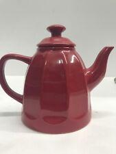 """Chantal Glossy Red Ceramic Teapot Tea Pot 3-cup 24 oz 7"""" Tall"""