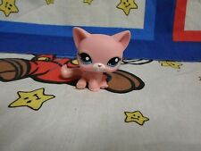 Littlest Pet Shop #2593 Pink Cat with Blue Eyes