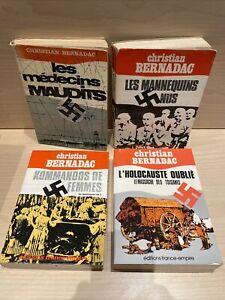 Lot Christian Bernadac - L'Holocauste / Les Mannequins / Kommandos / Maudits