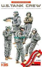 U.S. Tank Crew (5 Figures) Plastic Model Kit 1/35 Miniart 37005