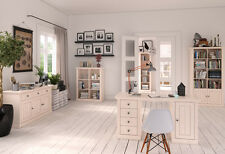 STEENS Massivholz Büroprogramm MONACO Landhausstil Kiefer White-Wash Büro