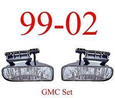99 02 GMC Fog Light Set Assembly, Truck, Sierra, 1500, 2500, 3500, Both Sides!!