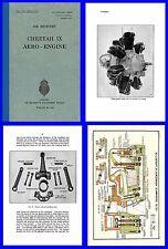 Cheetah IX Aero Engine Manual on CD AP1526A Anson Oxford Etc