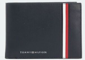 Tommy Hilfiger Fine leather extra credit card and coin bifold wallet Blue