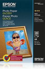 PAPIER PHOTOGRAPHIQUE INKJET EPSON 20 PAPIER A4 200 GRAMMES BRILLANT