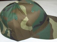 Camo Baseball Hat Woodland Camo Fitted Back CAP size XL 7 3/4