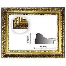 Barockrahmen gold fein verziert 840 ORO, Goldrahmen, Bilderrahmen gold