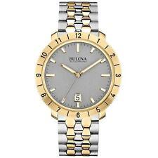 Bulova Men's 98B216 Accutron II Moonview Two-Tone Case Grey Dial Watch