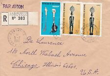 BD811) Ivory Coast 1976 nice registered airmail cover to USA