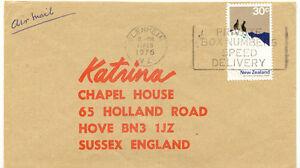 AU$ NEW ZEALAND 1976 30C Mt Cook National Park single postage on superb Air Mail