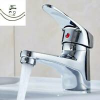 Modern Bathroom Taps Basin Sink Mono Mixer Chrome Cloakroom Tap with 2 Hoses